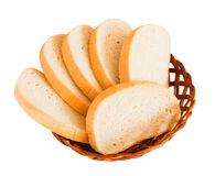 Few slice of bread. On white background Royalty Free Stock Photo