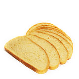 Few  slices of bread Royalty Free Stock Photo