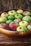 Few small apples Stock Photos