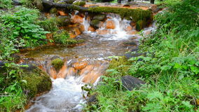 Few small waterfalls stock footage