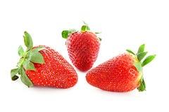 Few strawberries isolated Stock Photo