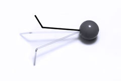 Few straws in a ball. Few drinking straws against a white background Stock Image