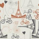Few symbole Francja jak niekończący się wzór royalty ilustracja