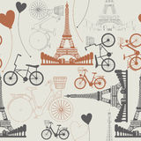 Few symbols of France as endless pattern Royalty Free Stock Photography
