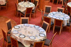 Few tables in dining room Royalty Free Stock Photography