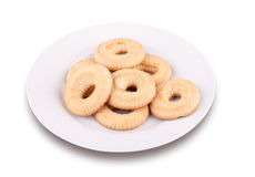 A few tea cookies on a plate Royalty Free Stock Photos