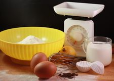 A few things to prepare dessert Stock Photo