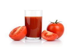 Few toamtoes and tomato juice Stock Photo