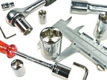 Few tools. On white background Stock Photos