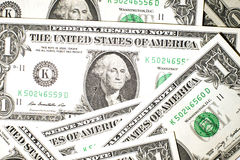 A few US banknotes Stock Image