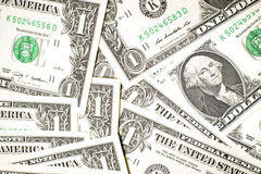 A few US banknotes Stock Photography
