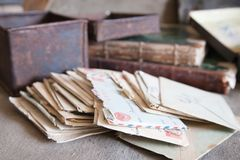 Few vintage letters Stock Photography