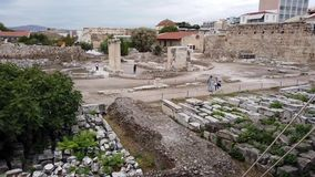 Few Visitors in the Ancient Agora, Athens City, Greece