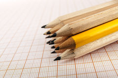 A few wooden pencils Royalty Free Stock Photos