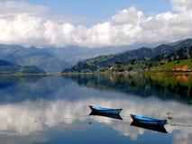 Fewa湖,尼泊尔 免版税库存图片