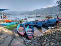 Fewa湖 免版税图库摄影
