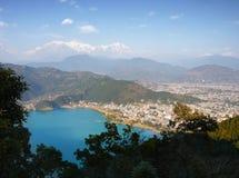Fewa Lake Pokhara Himalayas Nepal Stock Image