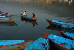 Fewa Lake in Pokhra-Nepal Stock Images