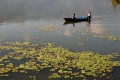 Fewa Lake in Pokhra-Nepal Royalty Free Stock Image