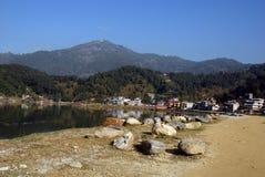 Fewa Lake in Pokhra-Nepal Royalty Free Stock Photo