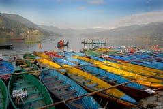 Fewa Lake in Pokhra-Nepal Royalty Free Stock Photography