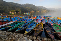 Fewa Lake in Pokhra-Nepal Royalty Free Stock Images