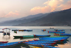 Fewa Lake at Sunset Stock Image