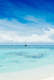 feydhoo finolhu海滩-马尔代夫 库存图片