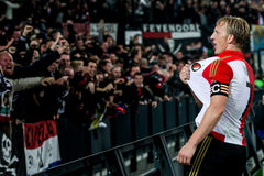 Feyenoord spelare Dirk Kuyt (Dirk Kuijt) Royaltyfri Fotografi