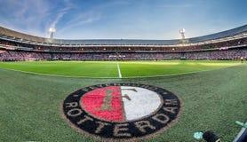 Feyenoord stadion med logo Royaltyfria Bilder
