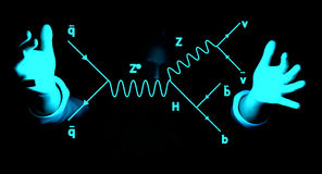 Feynman diagram. Representation of behavior of subatomic particles Royalty Free Stock Photography