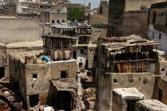 Fez's-Gerberei in Marokko Stockbilder