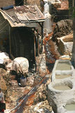 Fez's tanneries in Morocco Stock Image