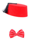Fez and bow tie Stock Image