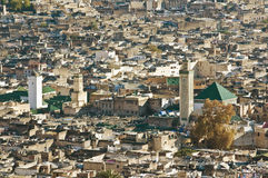Fez general view at Morocco Stock Images