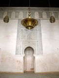 Fez Madrassa. Intricate wall of the Bou Inania Madrassa in Fez, Morocco Stock Photo