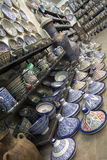 Fez Maroc l'afrique céramique marocaine bleue Images libres de droits