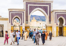 Fez, Marocco, Bab Rcif gate. Royalty Free Stock Photo