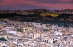 Fez Marocko med gamla medina Arkivfoton