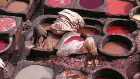 Fez. Maroko. Tło Obrazy Stock