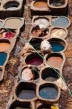 Fez, Fez-Meknès/Morroco - 08162011 : Tan-maison de Fez, avec le travail Photographie stock libre de droits