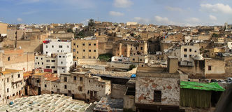 Fez, Morocco. Panoramic view at Fez, Morocco stock photography