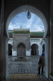 FEZ, MOROCCO - FEBRUARY 18, 2017: Unidentified people in the medina of Fez Stock Photo