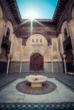 FEZ, MOROCCO, JUNE 2016: old islamic coranic school, the oldest Royalty Free Stock Images