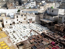 Fez Morocco - medina. Colorful city, Fez in Morocco. Beauty aerial view Stock Photos