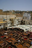 fez morocco tanneries Arkivfoton