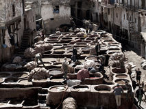 Fez, Morocco tannery Royalty Free Stock Photography