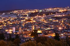 Fez at night Stock Image