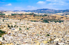 Fez panoramic view of town, Marocco. Royalty Free Stock Photo
