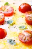 Fez recentemente ovos mexidos com tomates e ervas fotografia de stock royalty free